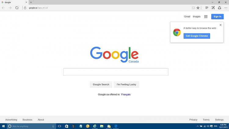 Click image for larger version.  Name:google.ca as home page.jpg Views:5 Size:168.4 KB ID:56545