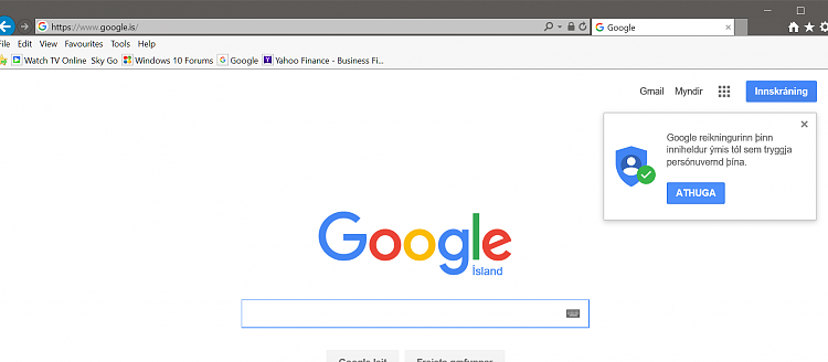 Anyone else getting that old Google bar when visiting a Google site