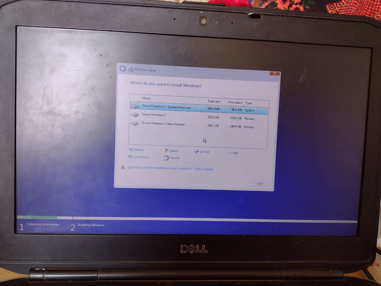No drive found on my internal hard disk on Dell Latitude E5430.-image.png