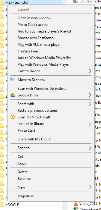 How do you remove items from a context menu? - Windows 10 Forums