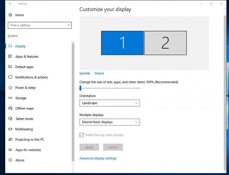 windows 10 dual monitor  taskbar icons open app dpd on