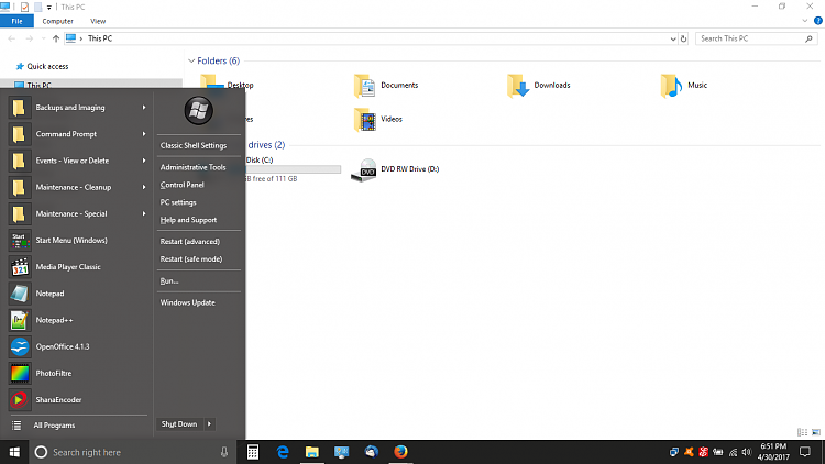 """trying to get the """"old style"""" Windows 10 start menu-screenshot-10-.png"""