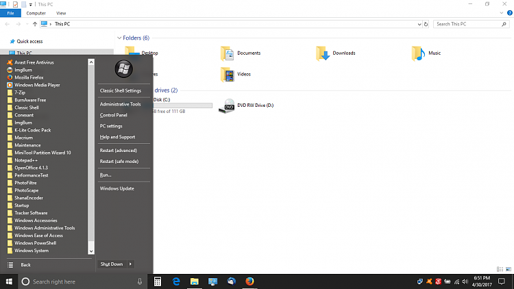 """trying to get the """"old style"""" Windows 10 start menu-screenshot-11-.png"""