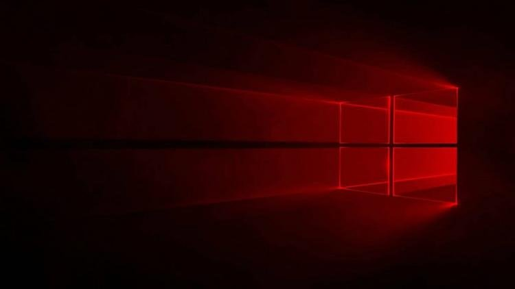 Name Red Windows 10 Wallpaper