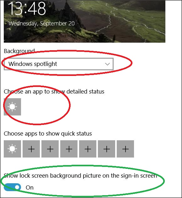 Windows Spotlight Lock Screen Photo Not Coming Up On Sign