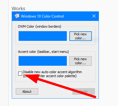 Accent color bug  in 1809 and how to set title bar color manually-001620.png