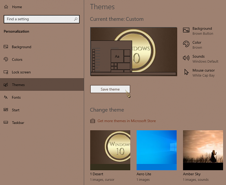Win10 Pro 1709: How to Add  theme File to Themes Solved