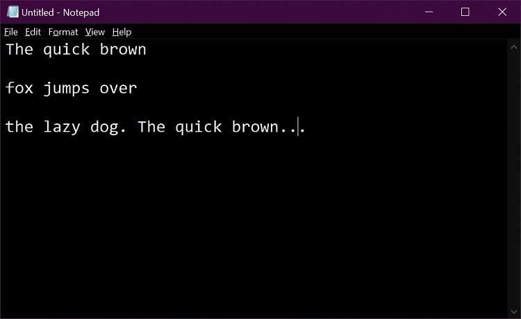 How to make Notepad black? - Windows 10 Forums