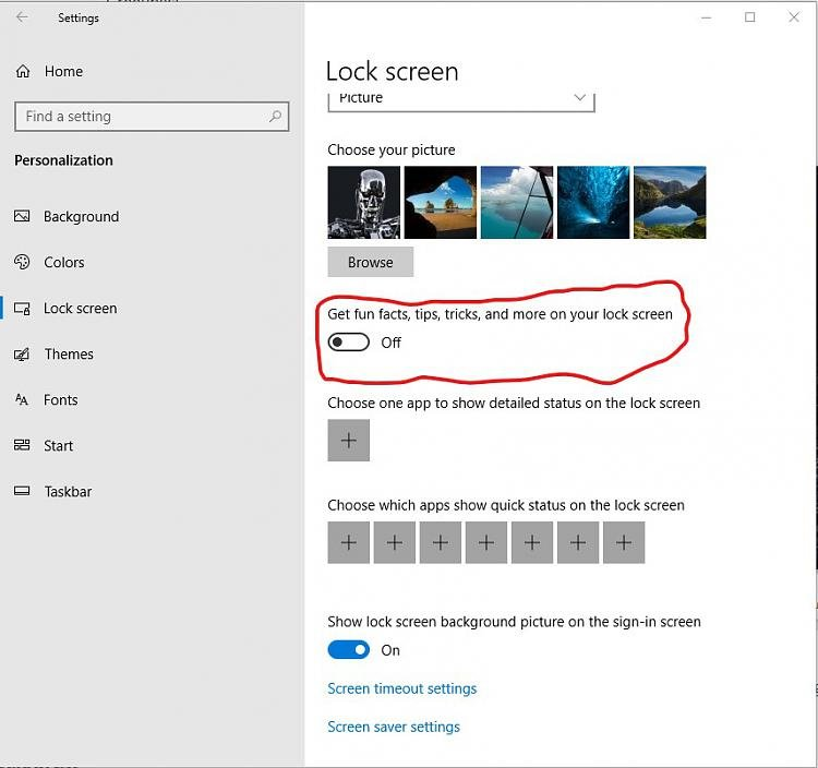 How To Remove Annoying Suggestions On W10 Lock Screen Windows 10 Forums