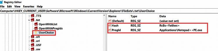 Setting Notepad++ as default text editor requires changing a reg key-registry-editor-2.jpg