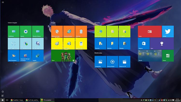 how to change start menu icon windows 10