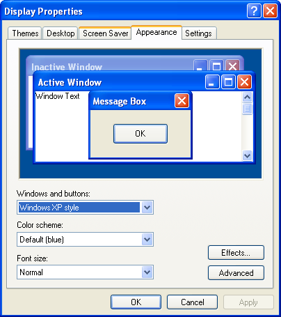 Advanced Appearance Settings Dialog Box for Windows 10 - Build 21H1-changing-colours-windows-xp-2.png