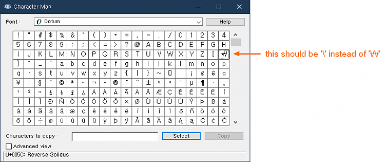 Anyone would know how to fix a single letter in Font?-dotum-font.png