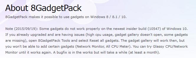 Desktop Gadgets turn ON/OFF (8gadgetpack) Solved - Windows