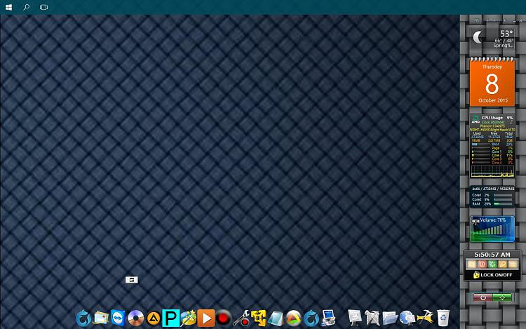 Click image for larger version.  Name:SECONDARY DISPLAY -Gadget Side Bar - RocketDock.jpg Views:2 Size:161.9 KB ID:41653