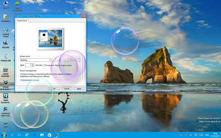 Click image for larger version.  Name:Bubble screensaver test Windows 10.jpg Views:3 Size:344.8 KB ID:42568