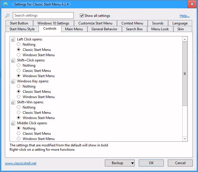 Click image for larger version.  Name:Classic start menu settings.jpg Views:2 Size:73.8 KB ID:43569