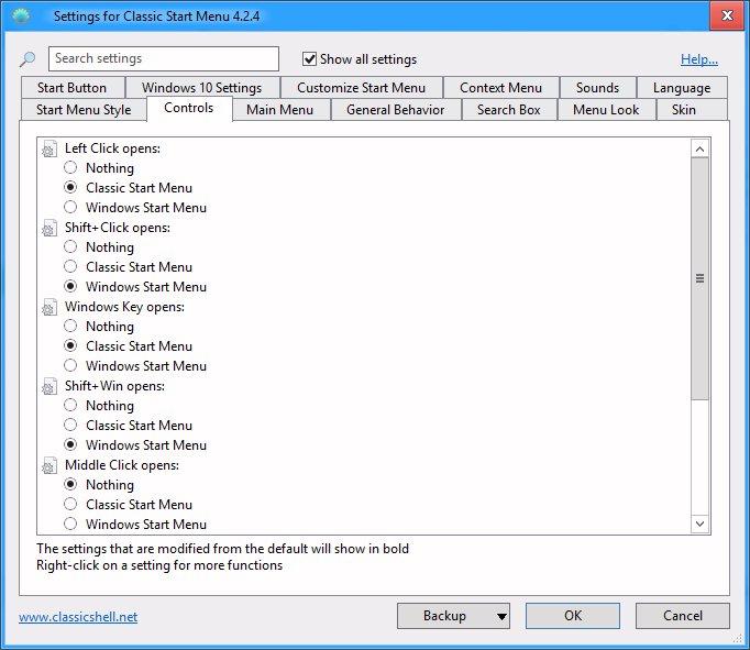 Click image for larger version.  Name:Classic start menu settings.jpg Views:8 Size:73.8 KB ID:45233