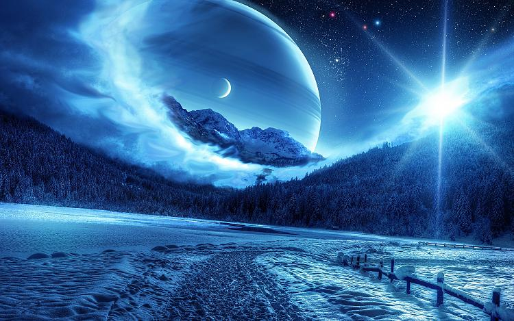 click image for larger version name winter night mountains road