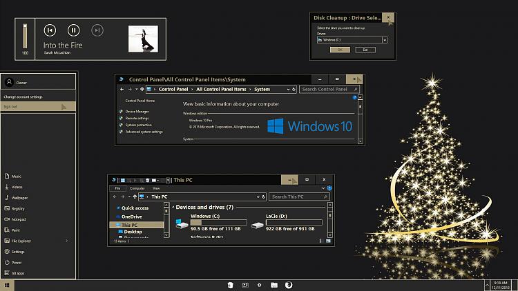 desktop themes for windows 10 christmas