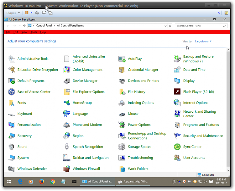 Click image for larger version.  Name:Windows 10 x64 Pro - VMware Workstation 12 Player (Non-commercial use only)2.png Views:3 Size:133.9 KB ID:68928
