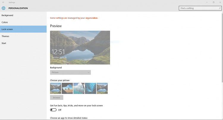 Unable To Apply Lock Screen Wallpaper Solved Windows 10 Forums