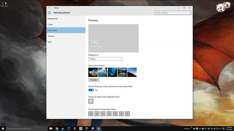 how to change windows 10 lock screen