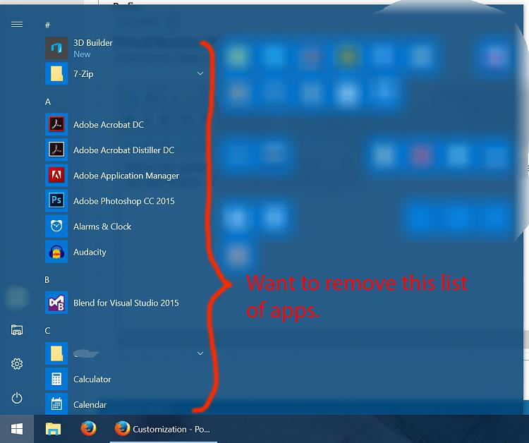 Post Anniversary Update: Long App List in Start Menu - Windows 10 Forums