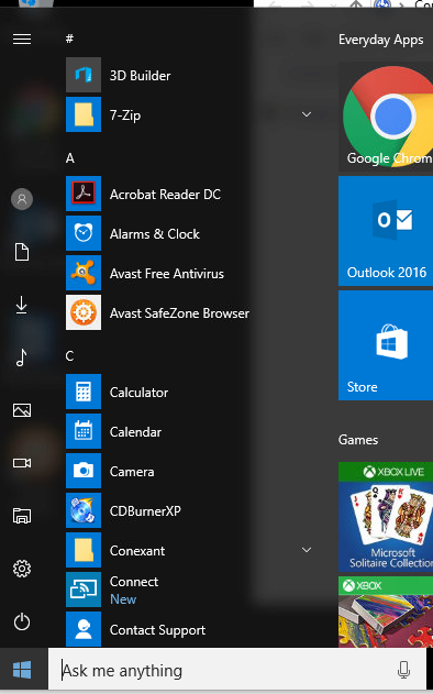 Click image for larger version.  Name:Windows 10 Start.png Views:41 Size:129.2 KB ID:98049