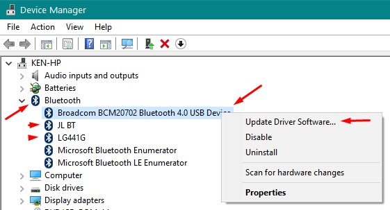 how to change bluetooth name in windows 10 laptop