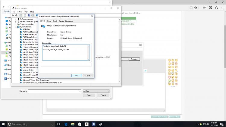 скачать драйвер intel к trusted execution engine interface