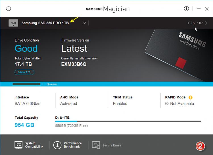 Click image for larger version.  Name:Samsung Magician v5.0-Screenshots-02-31012017 073558.png Views:4 Size:238.2 KB ID:119185