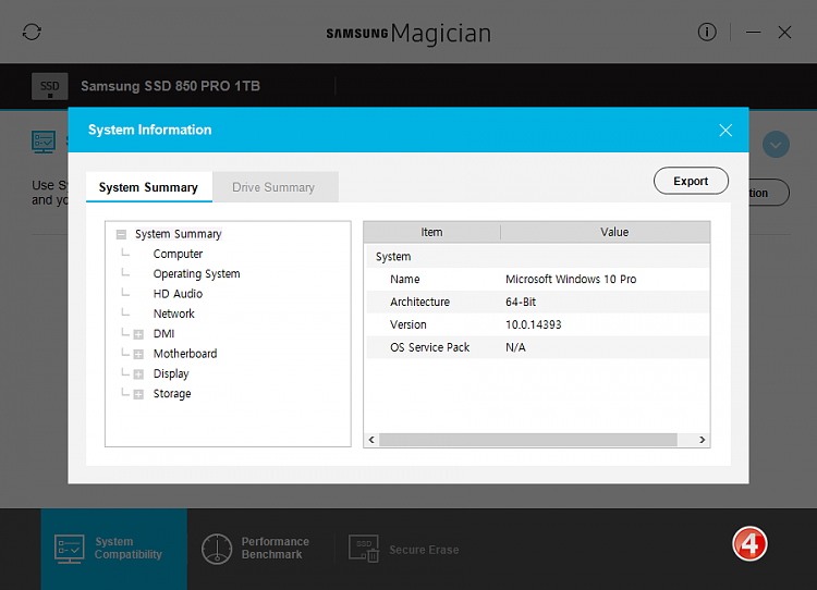 Click image for larger version.  Name:Samsung Magician v5.0-Screenshots-04-31012017 073709.png Views:5 Size:36.6 KB ID:119187