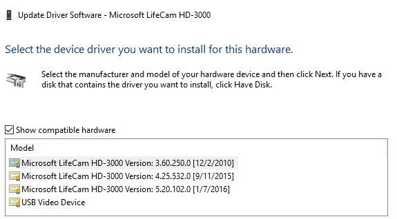 Microsoft Life cam Solved - Windows 10 Forums