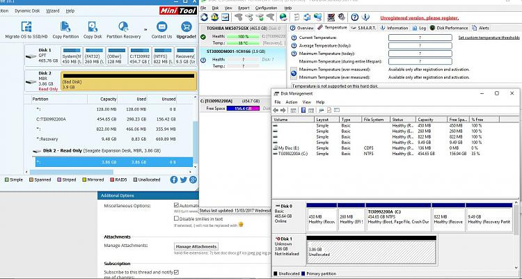 Click image for larger version.  Name:Disk Issues.JPG Views:5 Size:236.6 KB ID:125275