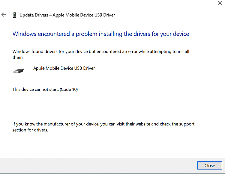 apple mobile device recovery mode driver windows 10 64 bit