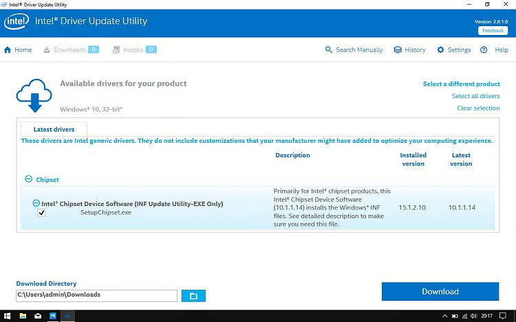 Click image for larger version.  Name:Intel INF Update Utility.jpg Views:1 Size:176.8 KB ID:143617