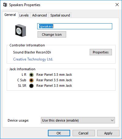 Subwoofer no longer automatically works after a restart - Windows 10