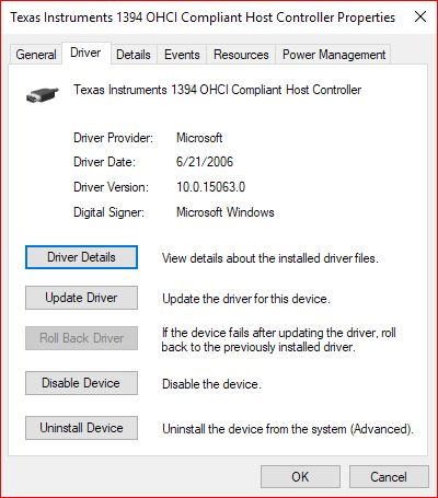 L-1 identity 1394 driver download for windows 10 bit