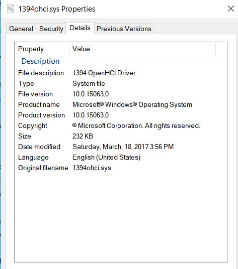 1394 (Firewire) Driver Solved - Windows 10 Forums