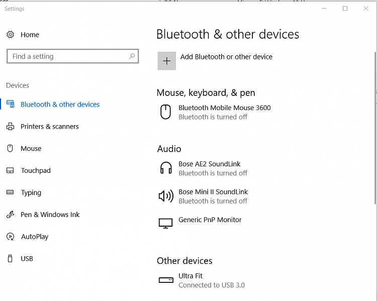 Bluetooth Suddenly Disappeared - from settings & device manager