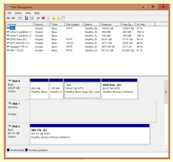 New SSD boot drive, new Win10 install boots but 2nd drive