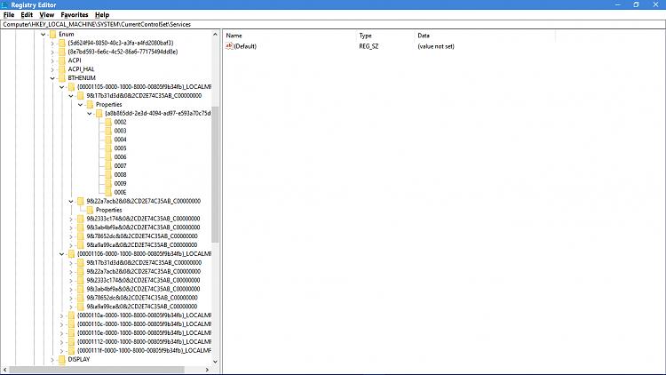 Click image for larger version.  Name:BTHENUM Registry Keys.png Views:3 Size:61.5 KB ID:164810