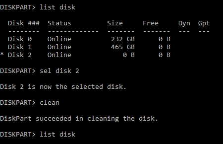 Hard drive to RAW and unknown disk-diskpart.png