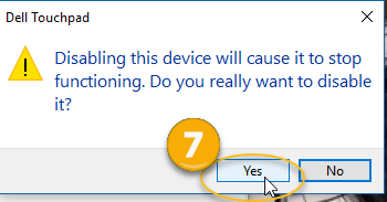 I want to disable touchpad on Dell laptop Solved - Windows