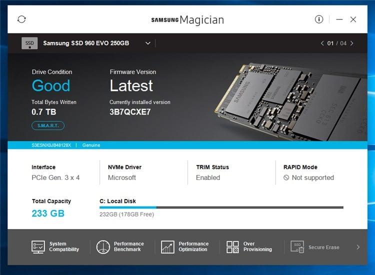 Samsung SSD Firmware Warning - Re: Magician Downloads - Windows 10