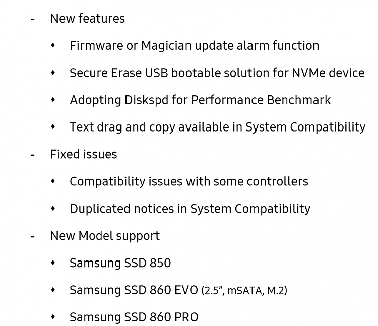 Samsung SSD Firmware Warning - Re: Magician Downloads - Page