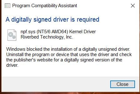 "How to solve ""digitally signed driver is required""-riverbed.jpg"
