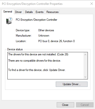 Click image for larger version.  Name:PCI driver not installed..jpg Views:14 Size:78.5 KB ID:177058