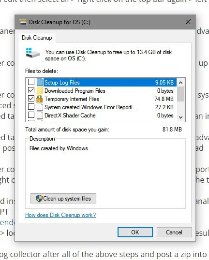 Repeated Crashes and Boot Errors Apparently Caused by Driver Updates-disk-cleanup-1.jpg